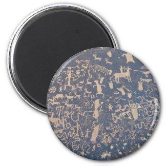 Newpaper Rock 2 Inch Round Magnet
