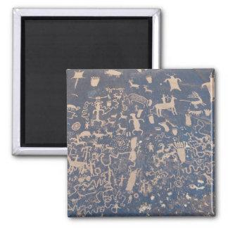 Newpaper Rock 2 Inch Square Magnet