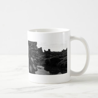 Newport Beach BW Rocks and muscles Coffee Mug