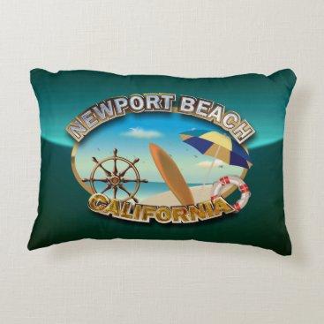Beach Themed Newport Beach, California Accent Pillow
