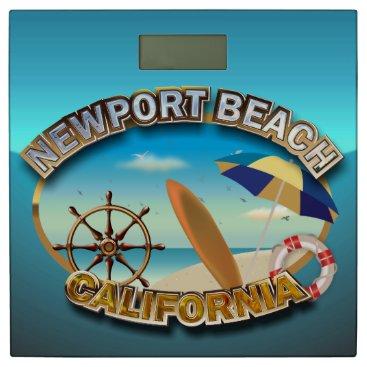 Beach Themed Newport Beach, California Bathroom Scale