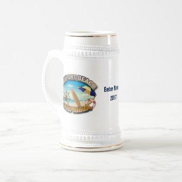 USA Themed Newport Beach, California Beer Stein