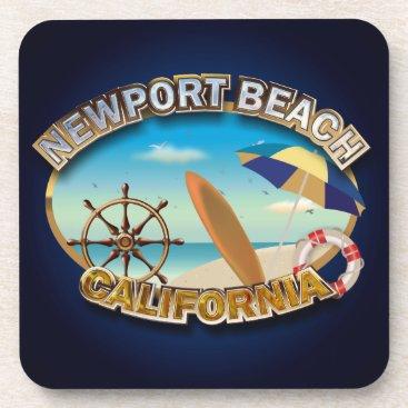 Beach Themed Newport Beach, California Beverage Coaster