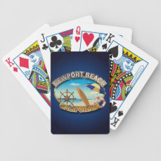 Newport Beach, California Bicycle Playing Cards