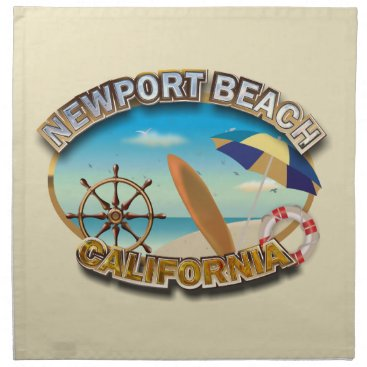 Beach Themed Newport Beach, California Cloth Napkin