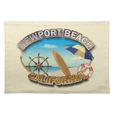 Beach Themed Newport Beach, California Cloth Placemat