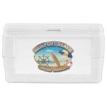 Beach Themed Newport Beach, California Cooler