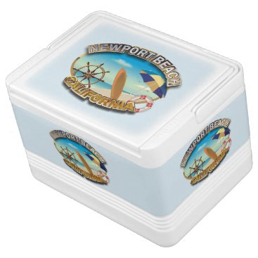 Beach Themed Newport Beach, California Drink Cooler