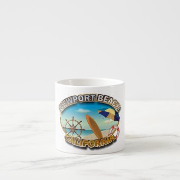 Beach Themed Newport Beach, California Espresso Cup
