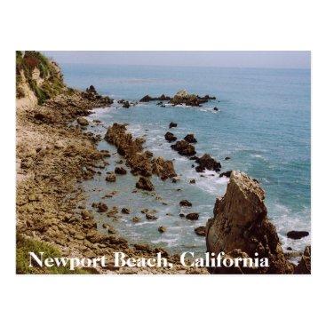 Beach Themed Newport Beach California Gold Coast Postcard OC