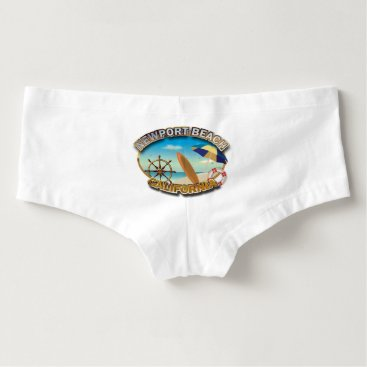 Beach Themed Newport Beach, California Hot Shorts