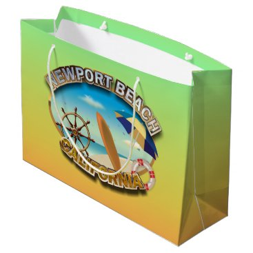 Beach Themed Newport Beach, California Large Gift Bag