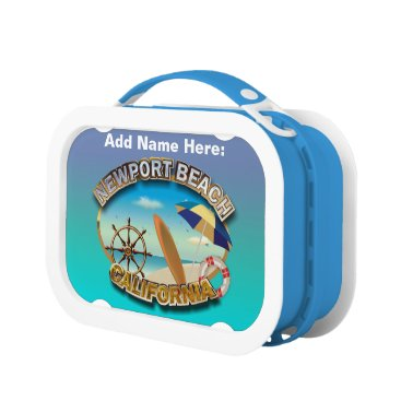 Beach Themed Newport Beach, California Lunch Box