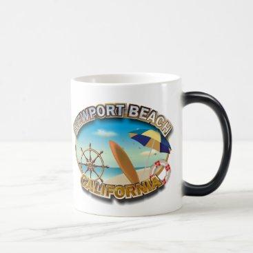Beach Themed Newport Beach, California Magic Mug
