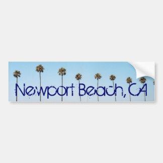 Newport Beach California Palm Trees Bumper sticker
