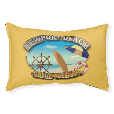 Beach Themed Newport Beach, California Pet Bed