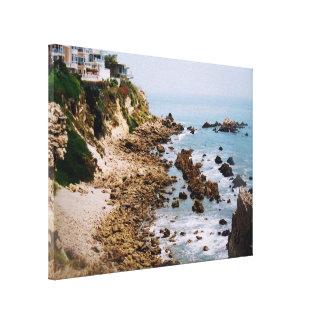Newport Beach California Rocky Coastline Photo Canvas Print