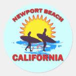 NEWPORT BEACH CALIFORNIA ROUND STICKER
