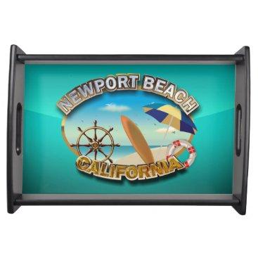 Beach Themed Newport Beach, California Serving Tray