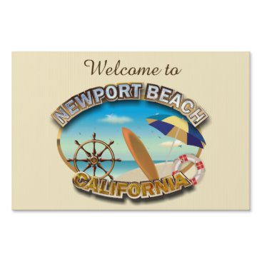 Beach Themed Newport Beach, California Sign