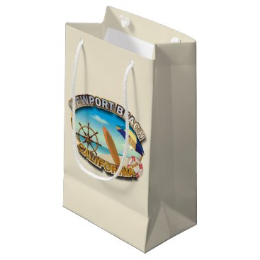 Beach Themed Newport Beach, California Small Gift Bag