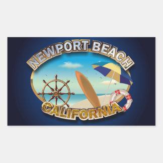 Newport Beach, California Rectangle Sticker