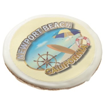Beach Themed Newport Beach, California Sugar Cookie