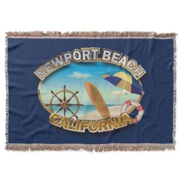 Beach Themed Newport Beach, California Throw