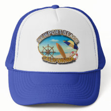 Newport Beach, California Trucker Hat
