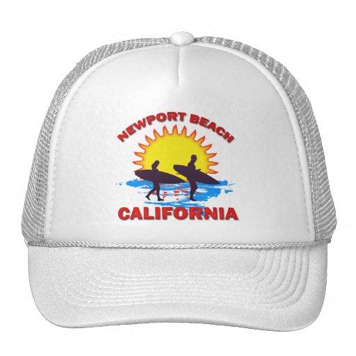 NEWPORT BEACH CALIFORNIA TRUCKER HAT