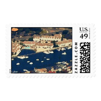Newport Beach No.3 Painted Postage Stamp