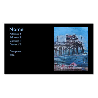 NEWPORT BEACH PIER Double-Sided STANDARD BUSINESS CARDS (Pack OF 100)
