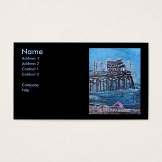 NEWPORT BEACH PIER BUSINESS CARD