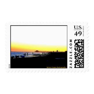 Newport Beach Pier, CA Postage Stamp