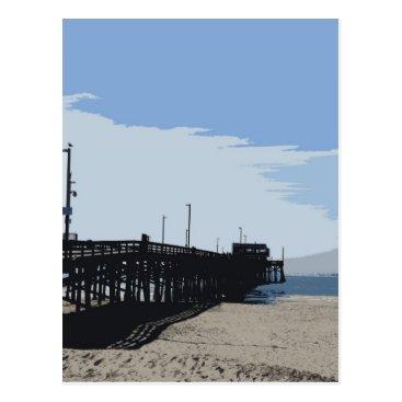 Beach Themed Newport beach pier postcard