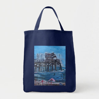 NEWPORT BEACH PIER TOTE BAG
