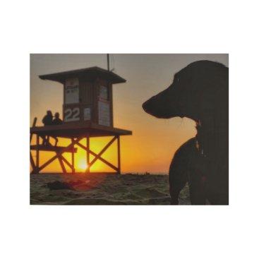 Newport Beach Sunset Wood Poster