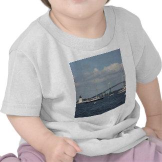 Newport Bridge and Lighthouse T-shirt