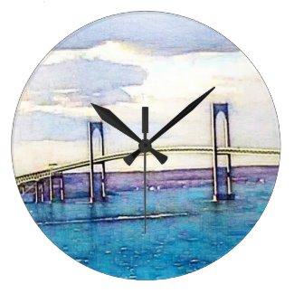 Newport Bridge clock