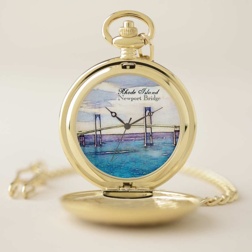 Newport Bridge Rhode Island Pocket Watch