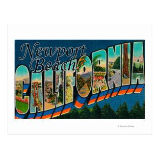 Newport, California - escenas grandes de la letra Tarjeta Postal