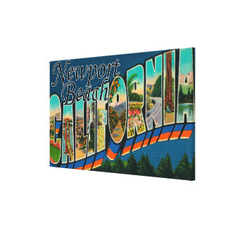 Newport, California - Large Letter Scenes Canvas Print