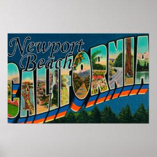 Newport, California - Large Letter Scenes Poster