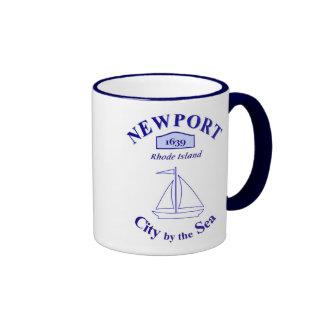 Newport, ciudad por el mar - taza de dos colores