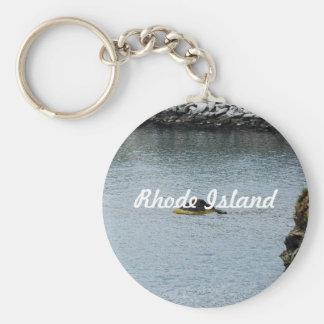 Newport Cliffwalk Basic Round Button Keychain
