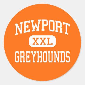 Newport - Greyhounds - High - Newport Arkansas Classic Round Sticker