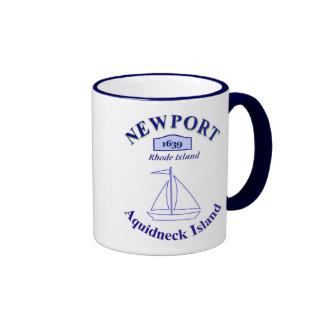 Newport, isla de Aquidneck - Taza De Dos Colores