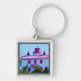 Newport Lighthouse at Yaquina Bay Keychain