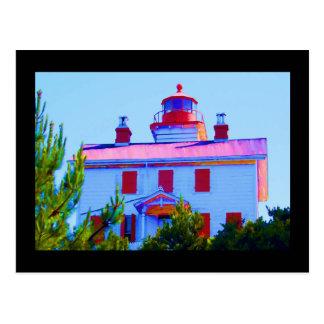 Newport Lighthouse at Yaquina Bay Postcard