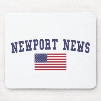Newport News US Flag Mouse Pad